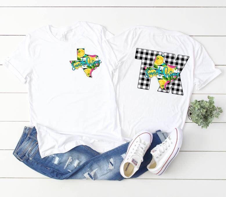 Stripe Plaid Yellow Rosetexas Watercolor T Shirt Boho Chic Shirt