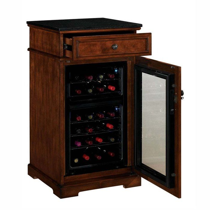 Madison Tresanti Wine Cabinet with Built-in Wine Refrigerator ...