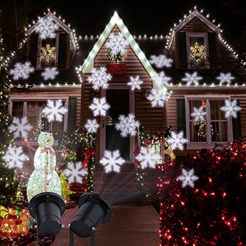 centeni christmas projector lights moving snowflakes christmas decoration lighting led landscape projector light waterproof for outdoor and indoor more - Christmas Decoration Projector