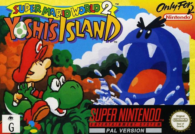 Super Mario World 2 Yoshi S Island Box Shot For Super Nintendo Jogos Super Nintendo Super Mario World 2 Super Nintendo