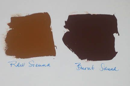 What Color Is Sienna >> What Colors Make Raw Umber Sienna Raw And Burnt It S