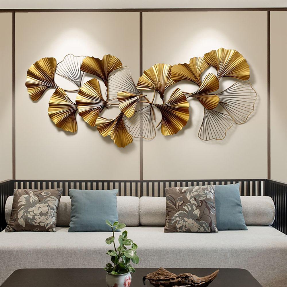 55 1 X 23 6 3d Golden Ginkgo Leaves Metal Wall Decor In 2021 Metal Wall Decor Wall Art Decor Home Decor Wall Art