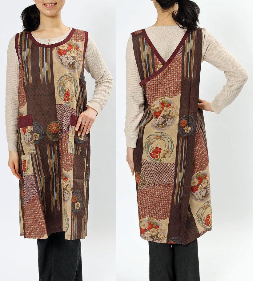 Stylish and classy Japanese pattern apron tabard and apron dress ...