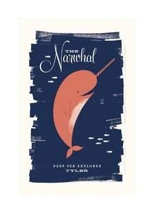 'Neighborly Narwhal', on Minted.com