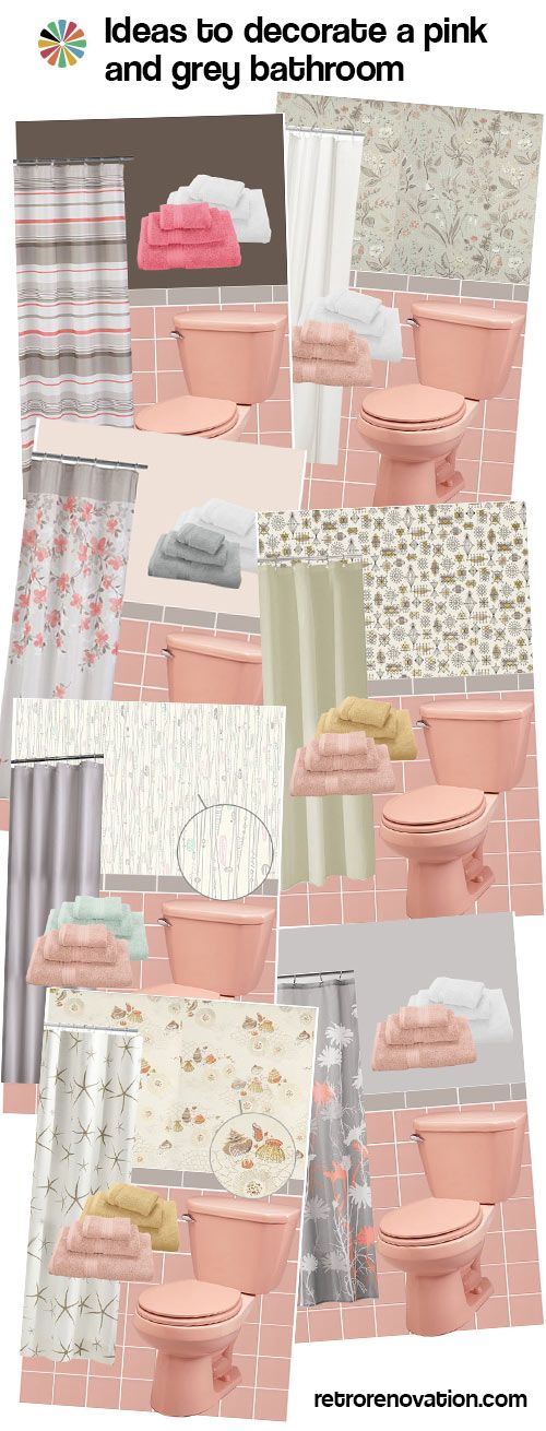 12 Ideas To Decorate A Pink And Gray Vintage Bathroom Pink Bathroom Tiles Retro Pink Bathroom Pink Bathroom Vintage