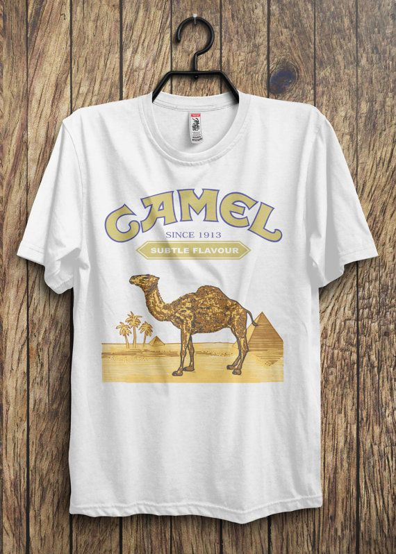3d397b22 Camel Cigarettes White Vintage Look T-Shirt S M L XL | T shirts in ...