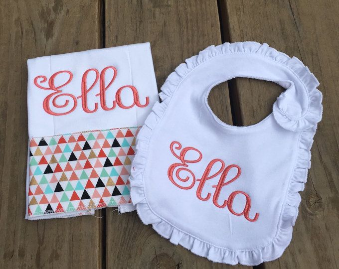 Personalized bib and burp cloth set winnie pinterest bibs personalized bib and burp cloth set winnie pinterest bibs practical gifts and babies negle Images