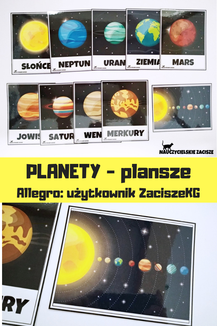 Planety Uklad Sloneczny Plansze Edukacyjne X10