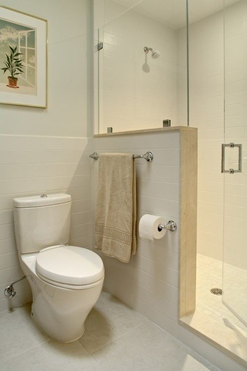 Love The Half Wall Like The Height Of Glass On Pony Wall Description From Pinterest C Bathroom Remodel Shower Modern Small Bathrooms Small Bathroom Decor