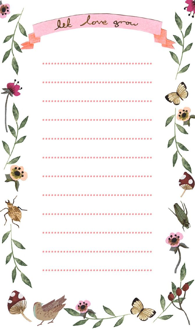 Stationery Emma Block Illustration Sobres Decorados