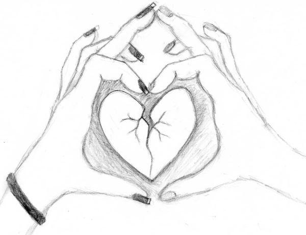 Srdce Kreslene Hledat Googlem Citatky 3 Sketches Drawings A