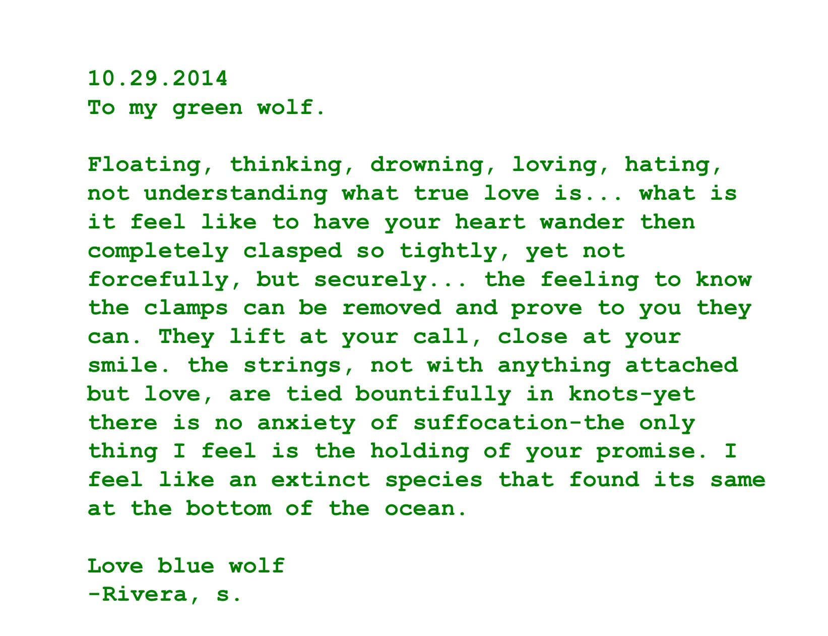 Love letter To my husband GW without u I would not be here I owe