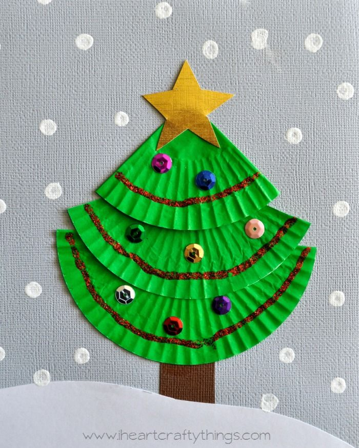 Cupcake Liner Christmas Tree Art Christmas Arts And Crafts Christmas Tree Crafts Christmas Art