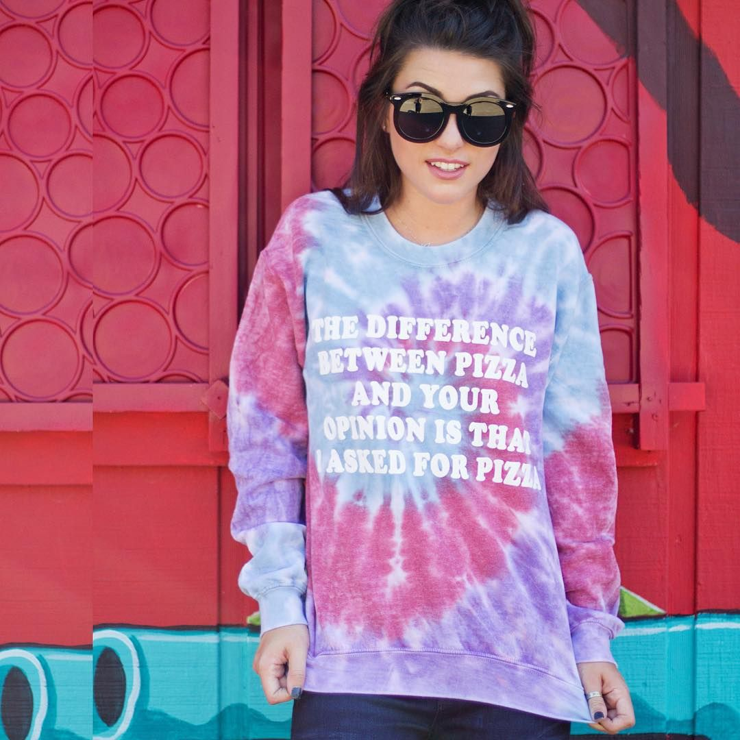 We are obsessed with everything @jacvanek! Including this perfect sweatshirt from our online collection. $79. Only remaining in size small. Order online or via social shop before they're gone! #jacvanek #sweatshirt #tiedye