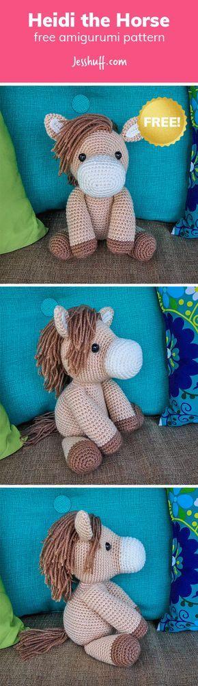 Heidi the Horse Free Amigurumi Pattern | Pinterest | kostenlose ...