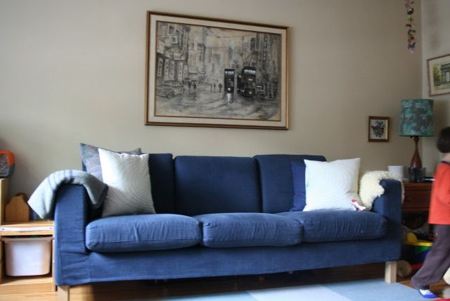 Navy Blue Couch Ikea Con Imágenes