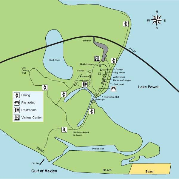 Camp Helen State Park in PCB is bordered on three sides by the Gulf ...