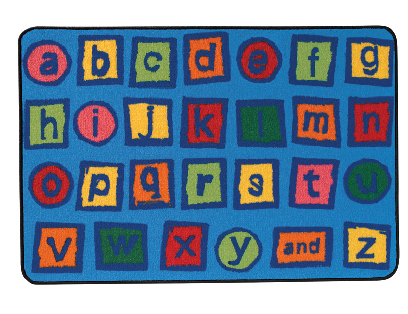 Alphabet Blocks With Great Colors And Kid Friendly Font Clroom Rugspreschool