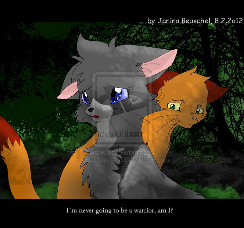 """ I'm never going to be a warrior, I'm I. "" -Cinderpelt. Cinderpelt and firestar."