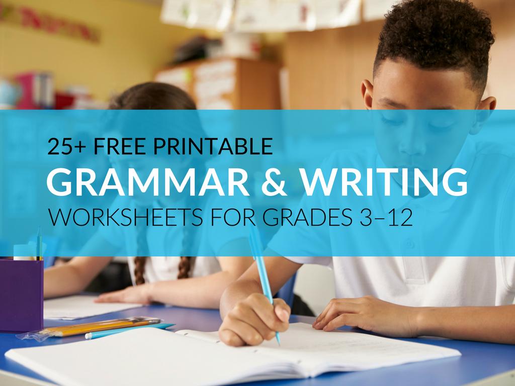Free 25 Printable Grammar Worksheets Educators Can