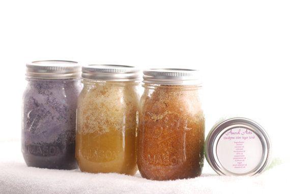 16 oz Sugar Scrubs by AnorelArts on Etsy, $10.00