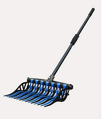 Orange Noble Outfitters Wave Manure Pitch Fork Tines Unbreakable