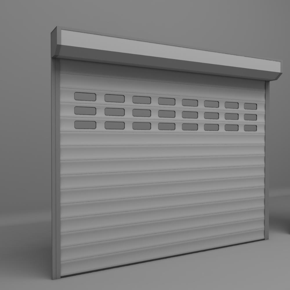 Garage Door Electric 3d Model Turbosquid 1208638 Electric Garage Doors Garage Doors Roller Doors