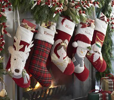 Luxe Velvet Stocking Collection Pbkids Christmas