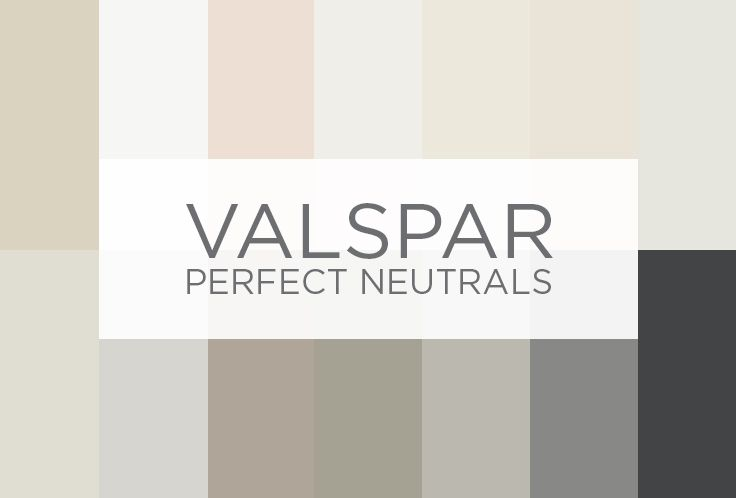 The valspar perfect neutrals board presented by genevieve for Perfect neutral gray paint
