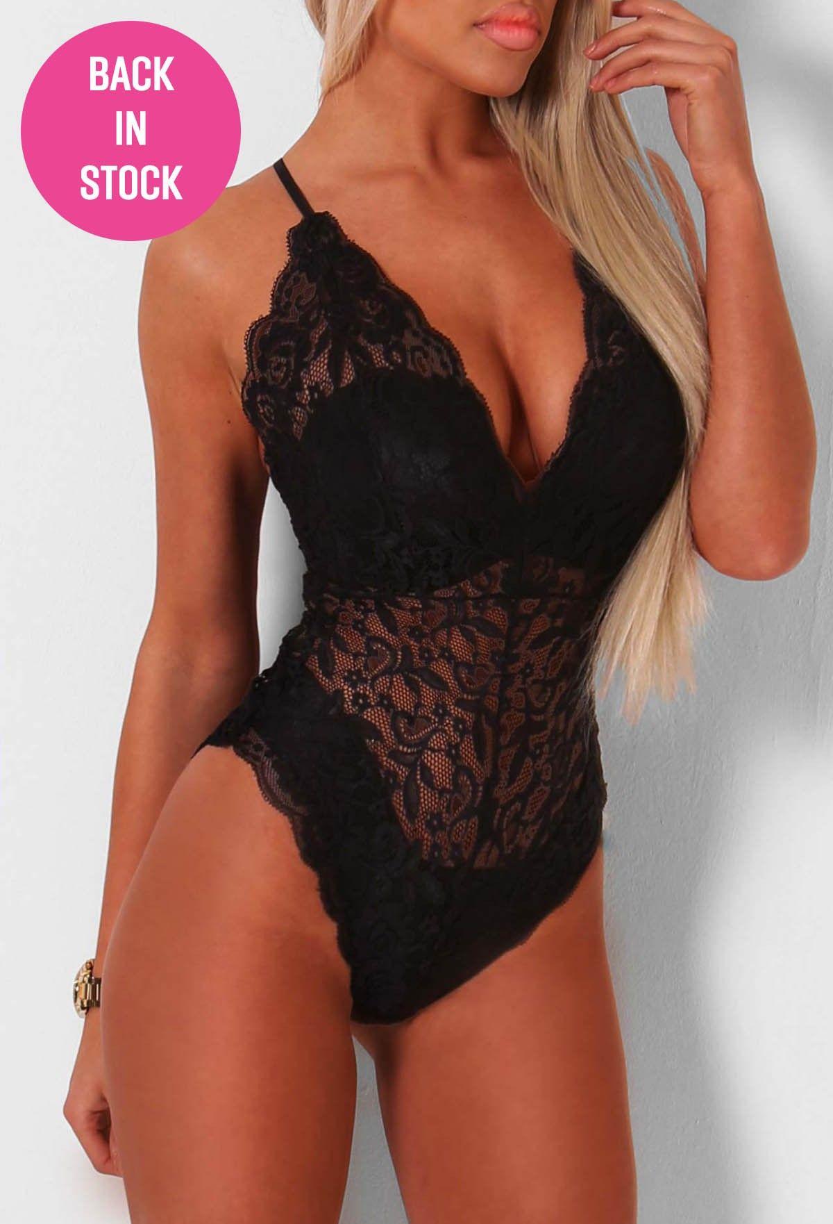 Chantay Black Lace Bodysuit  55a5a02f1