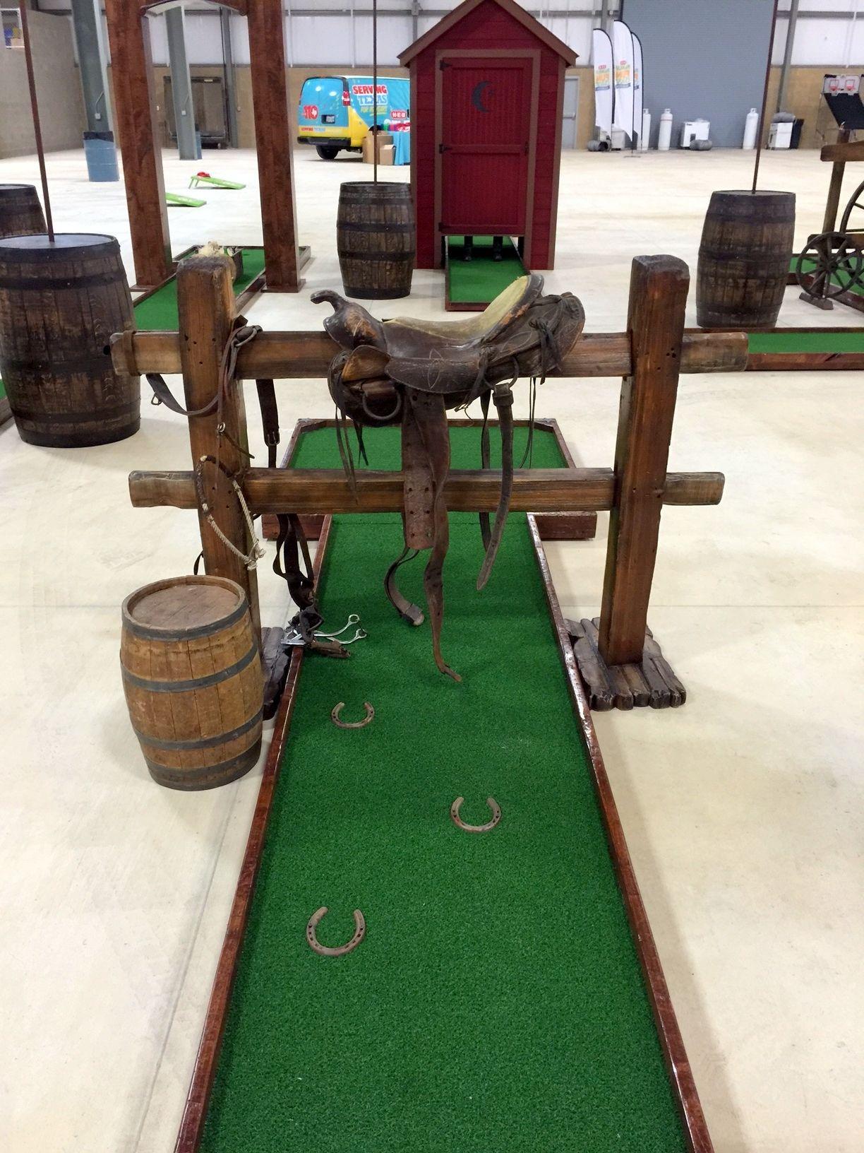 Split rail hole for portable mini golf course | Portable Mini Golf ...