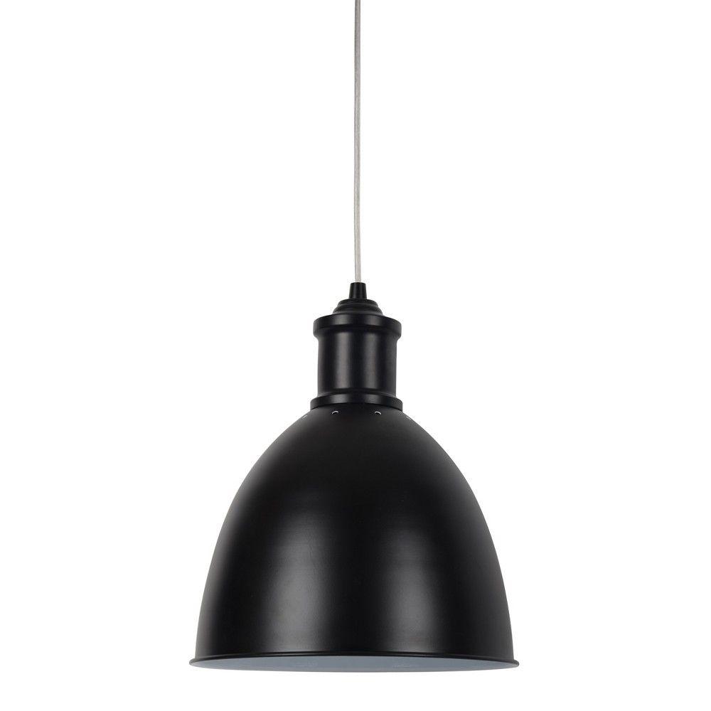 Large Industrial Metal Pendant Light Black Includes Bulb Threshold Metal Pendant Light Steel Pendant Light Industrial Pendant Lights