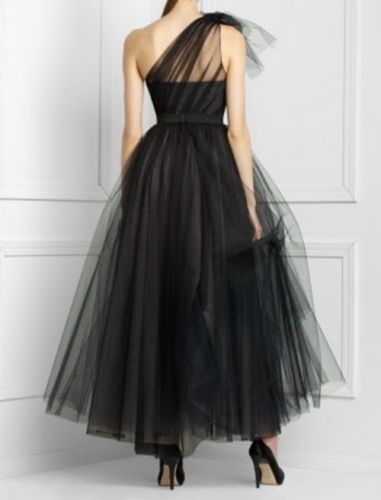 b67643bdcf NEW-BCBG-MAX-AZRIA-BLACK-LACE-ONE-SHOULDER-TULLE-GOWN-IBA6K799-L223-SIZE-4