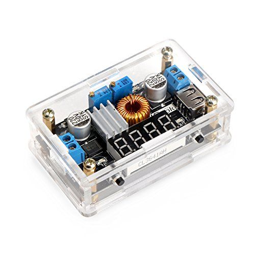 Drok Dcdc Buck Converter Constant Currentvolt Regulator 536v To 12532v Step Down Regulator 5a 75w High Power Led Cc Drive Converter Power Supply Solar Charger