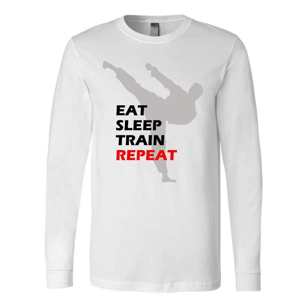 Martial art tshirt long sleeve white with inspiring quote