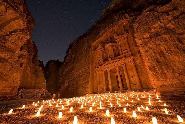 Petra By Night by TheFella on Flickr.