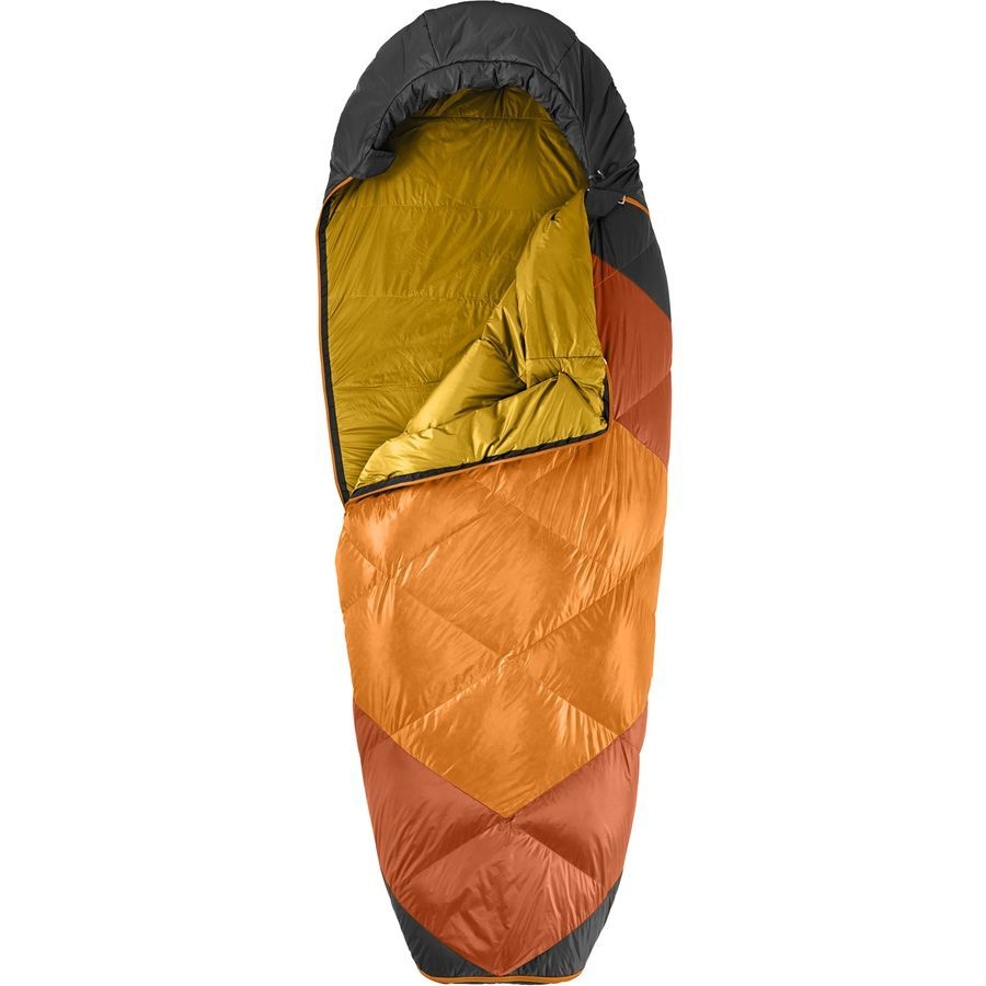 The North Face - Campforter Sleeping Bag: 35 Degree Down - Orange Rust/Asphalt Grey