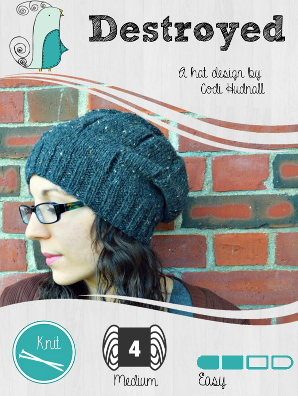 Destroyed Slouchy Beanie Hat FREE Pattern | Knit Grit | Pinterest
