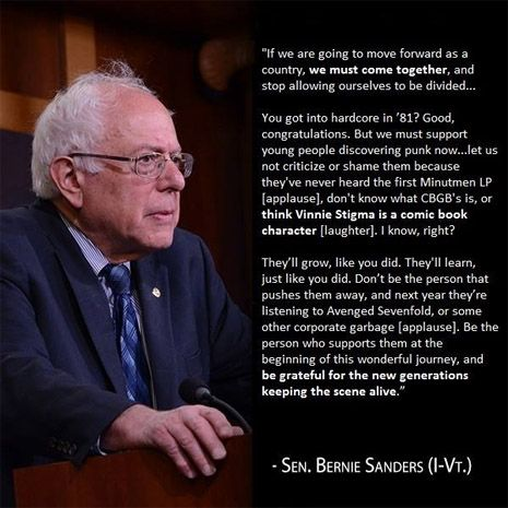 Berned In D C Images Of Bernie Sanders With Hilarious Fake Punk Rock Quotes Punk Rock Quotes Rock Quotes Punk