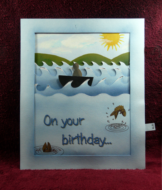 Moving Waves Pop Up Card With Template And Instructions Pop Up Cards Cards Card Making