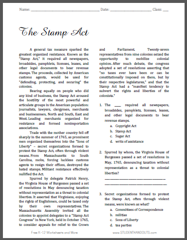 stamp act text