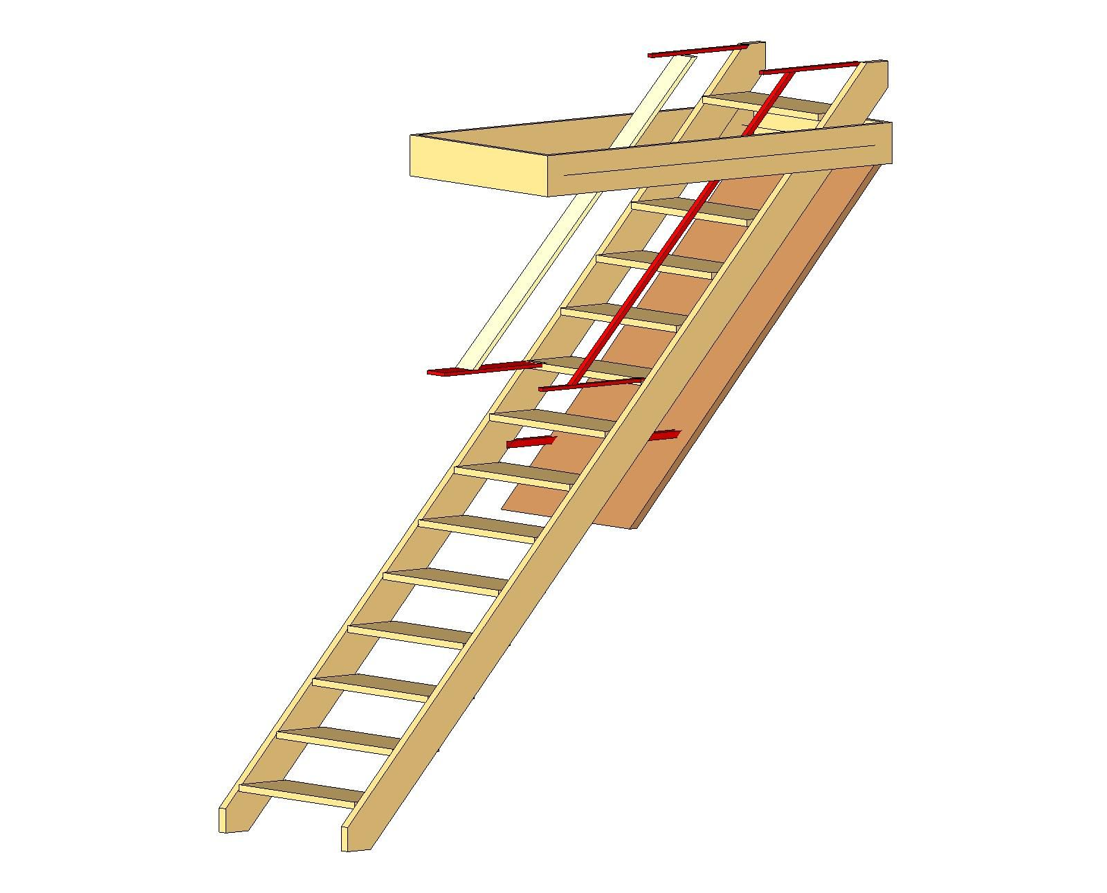 How To Build An Attic Access Ladder Attic Access Ladder Attic Flooring Attic Rooms
