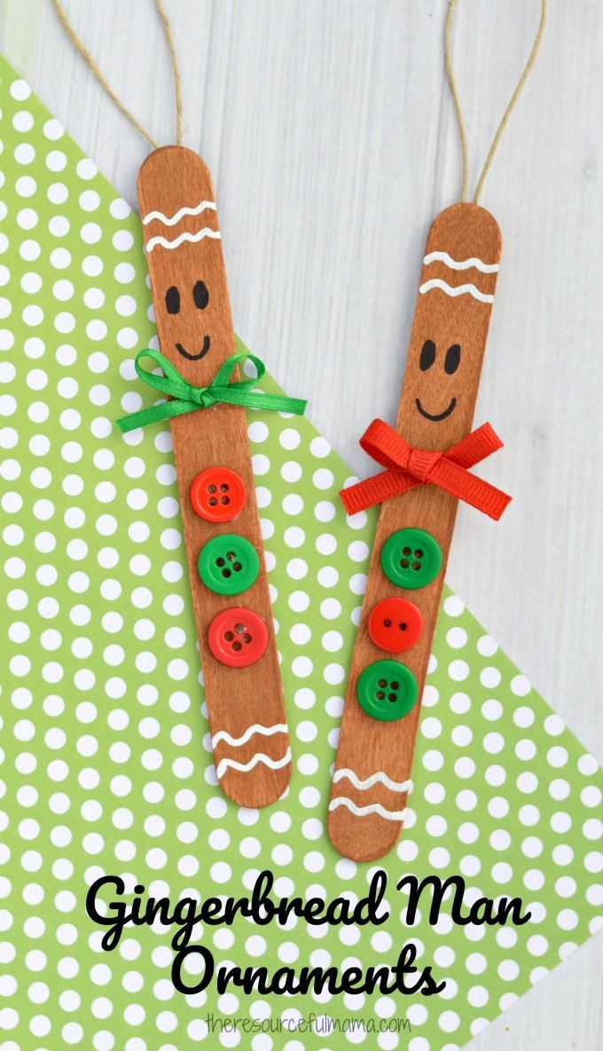 Craft Sticks Gingerbread Man Ornament