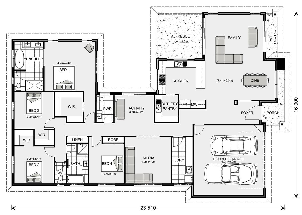 Lakeview 234 Home Designs In Shoalhaven G J Gardner Homes Dream House Plans Floor Plans House Design