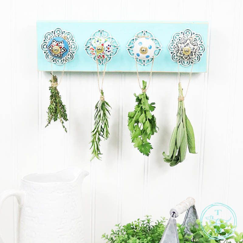 Diy herb drying rack with anthropologie style in 2020