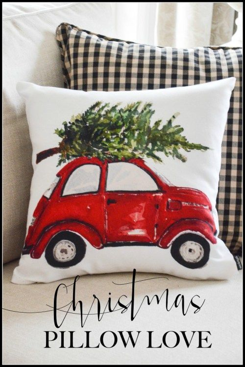 Christmas Pillow Love Pillows Christmas Decorations