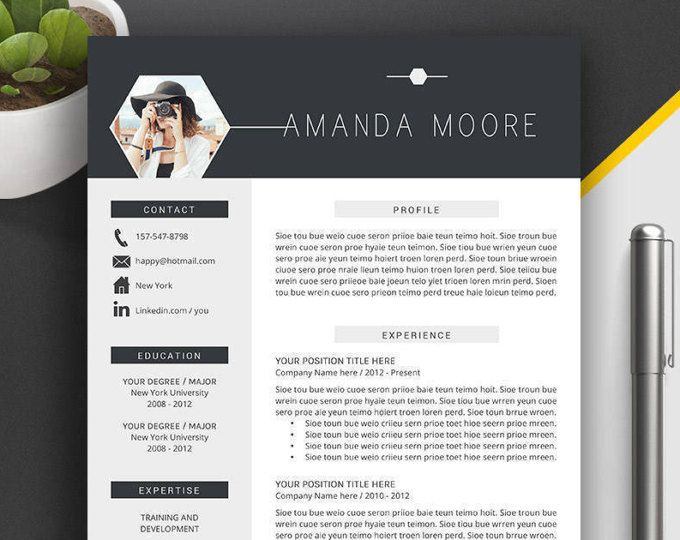 Professional Resume Template, CV Template, Cover Letter, Creative - creative professional resume templates
