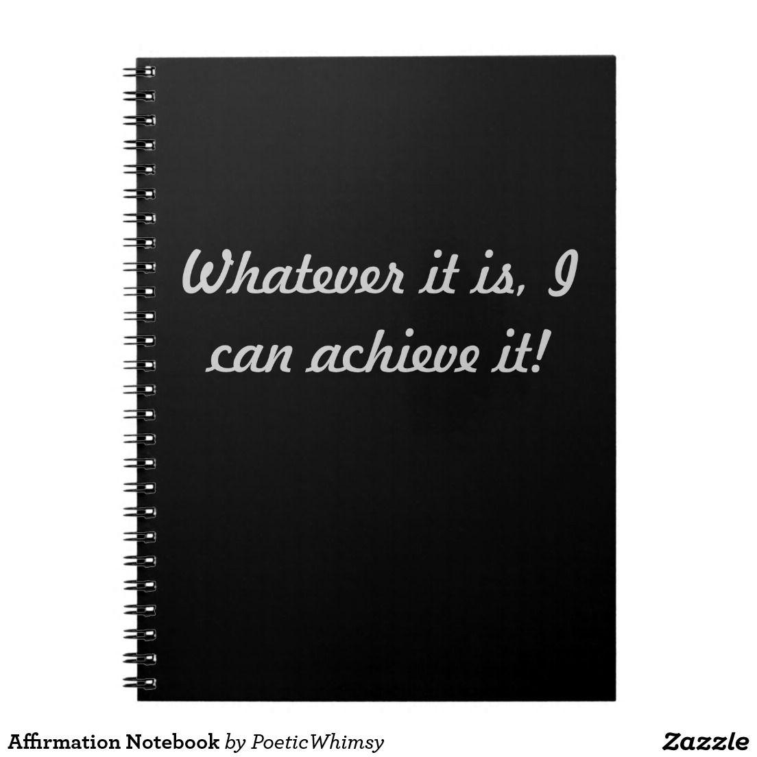 Affirmation Notebook