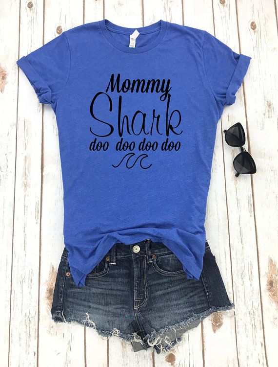 ac582767d Mommy Shark Doo Doo Doo Shirt, Mama Shark Shirt, Funny Shark Shirt, Mama  Bear Shirt, Mama Shark T-Sh