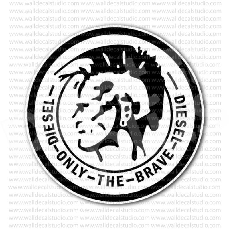 From 4 50 Buy Diesel Industry Only The Brave Emblem Sticker At Print Plus In Stickers Other At Print Plus Diesel Industry Vector Logo Diesel
